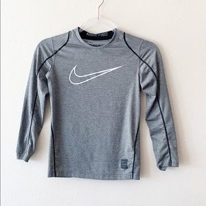 Nike Pro Fitted Gray Shirt